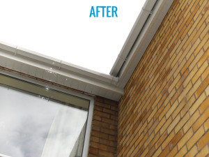uPVC Gutter After